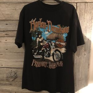 Harley-Davidson Men's T-Shirt Large Bahamas